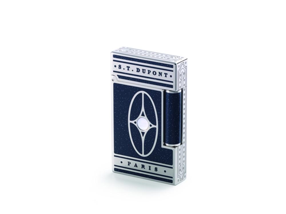 Зажигалка Orient Express Premium. S.T.Dupont, синий/серебристый