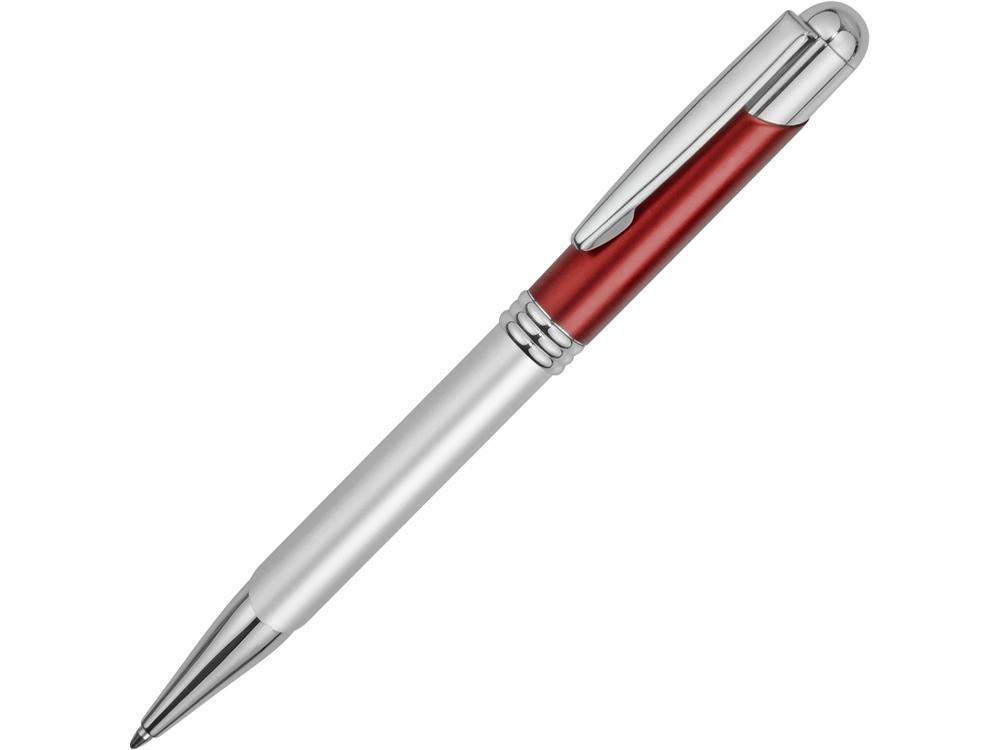 Ручка шариковая Мичиган, серебристый/красный