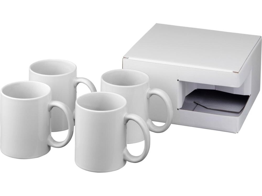 Набор из 4кружек Ceramic для печати методом сублимации, белый