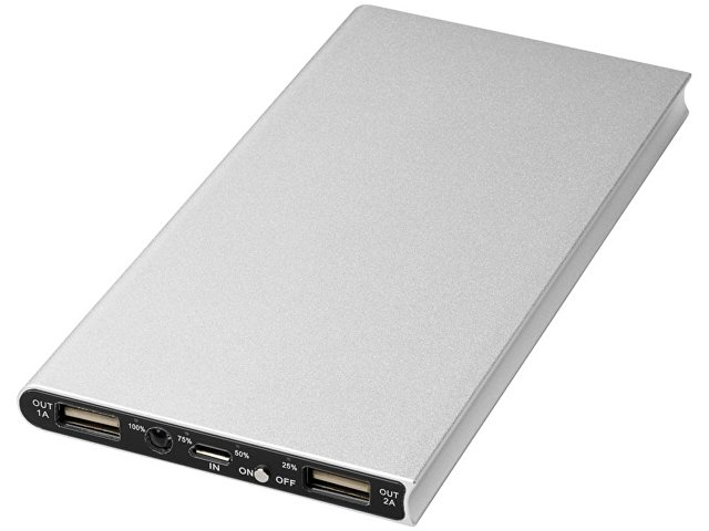 Портативное зарядное устройство «Plate», 8000mAh