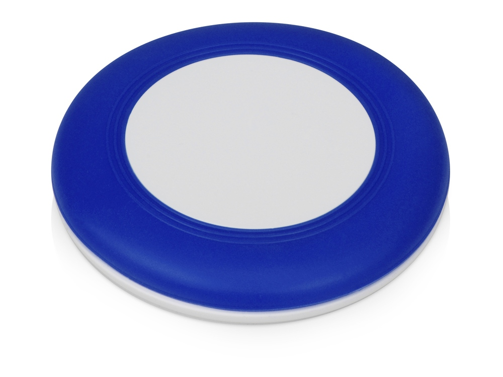 Беспроводное зарядное устройство со встроенным кабелем 2-в-1 Disc, синий