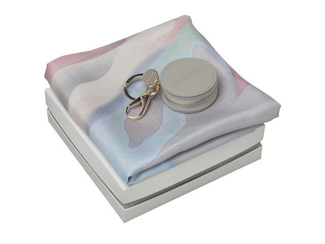 Набор: брелок-монетница, шелковый платок