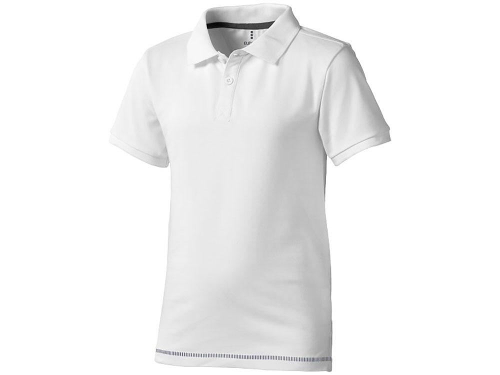Рубашка поло Calgary детская, белый/темно-синий