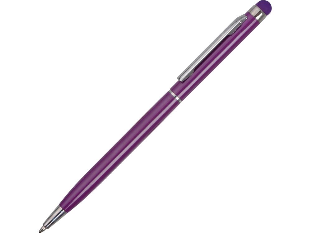 Ручка-стилус металлическая шариковая Jucy, фиолетовый