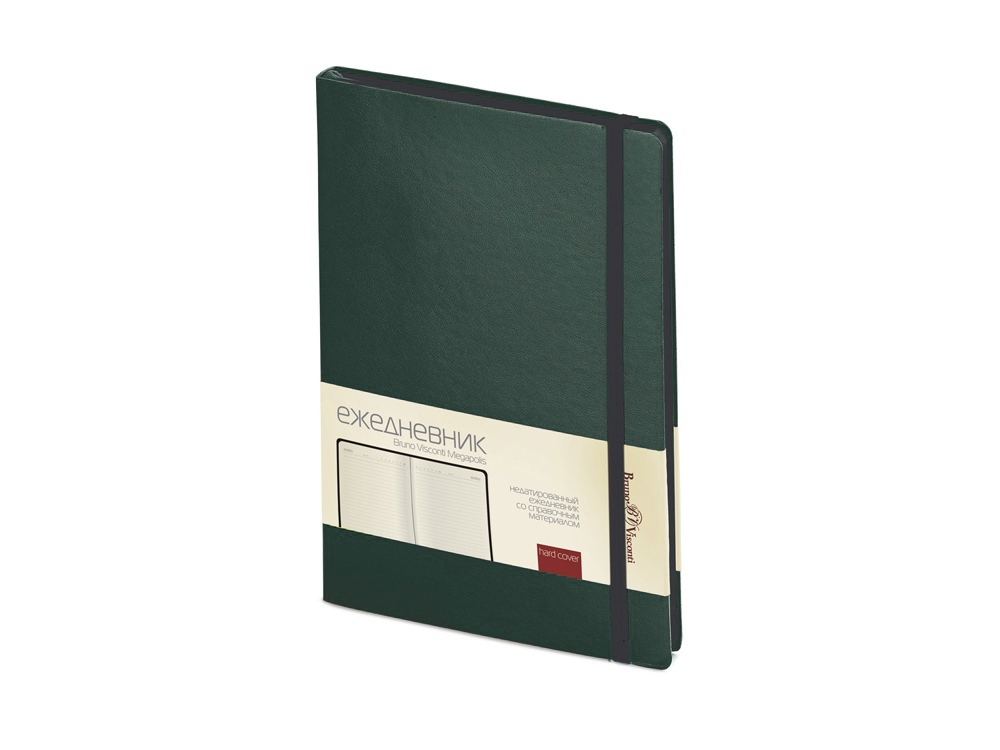 Ежедневник А5 недатированный Megapolis Soft, зеленый