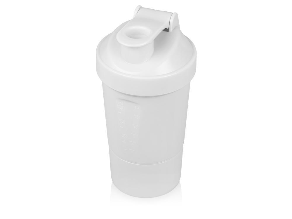 Шейкер для спортивного питания Level Up, белый