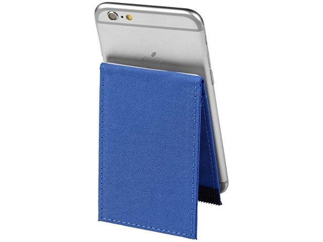 Кошелек-подставка для телефона RFID премиум-класса, ярко-синий