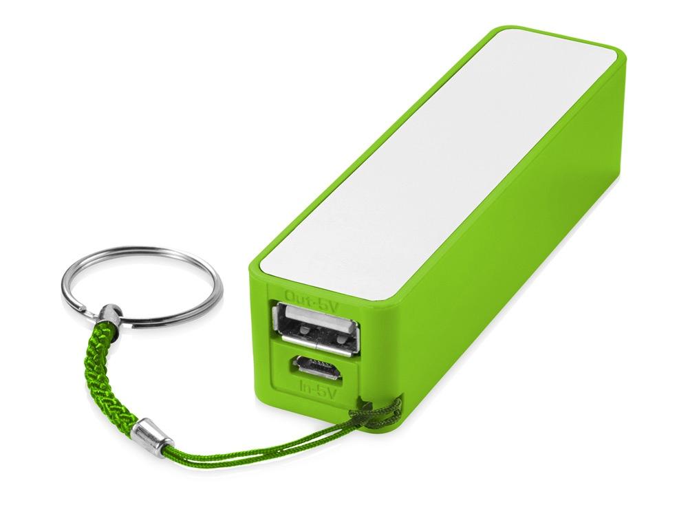 Портативное зарядное устройство Jive, лайм/белый