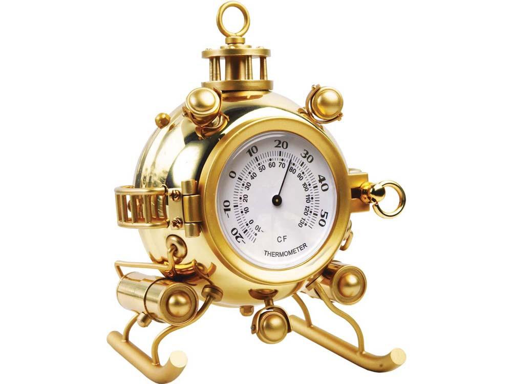 Настольный термометр Батискаф, золотистый