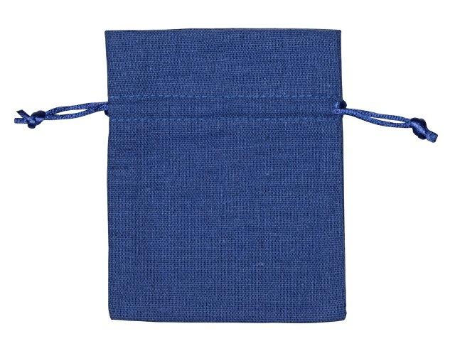 Мешочек подарочный, лен, малый, темно-синий