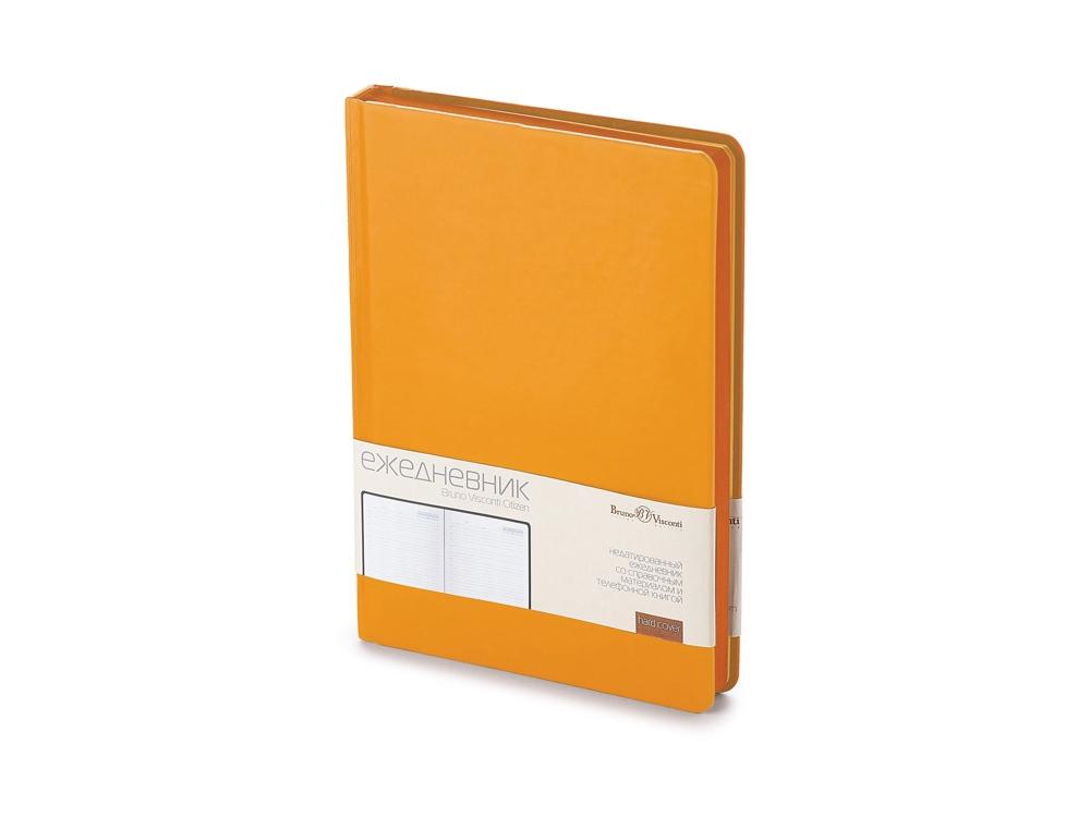 Ежедневник А5 недатированный Citizen, оранжевый