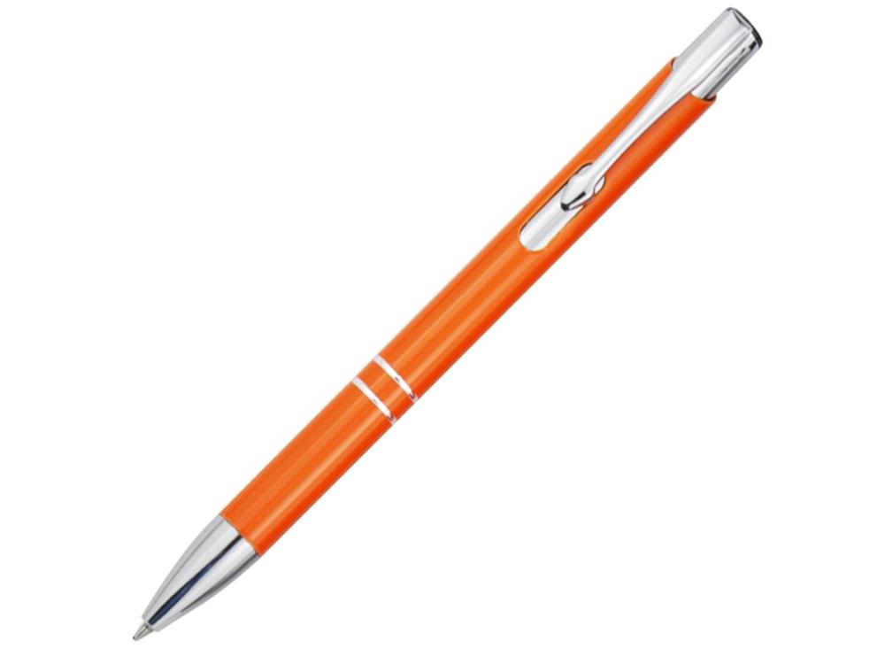 Алюминиевая шариковая кнопочная ручка Moneta, оранжевый