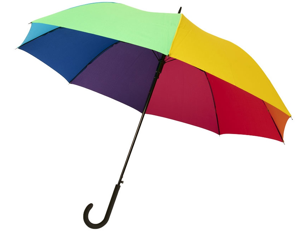 23-дюймовый ветрозащитный автоматический зонт Sarah,  радужный