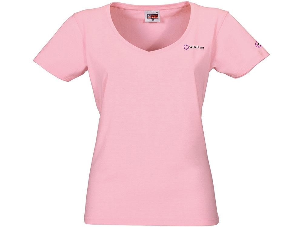 Футболка Heavy Super Club женская с V-образным вырезом, розовый