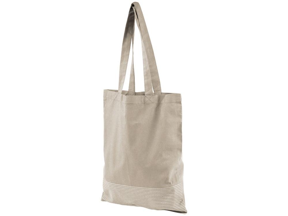 Хлопковая сумка-тоут Aylin с серебристыми вставками (плотность 140 г/м²)