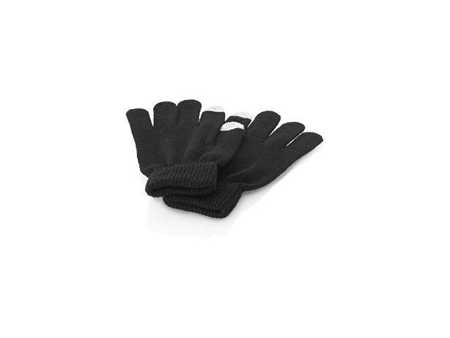 Перчатки для сенсорного экрана L/XL, черный