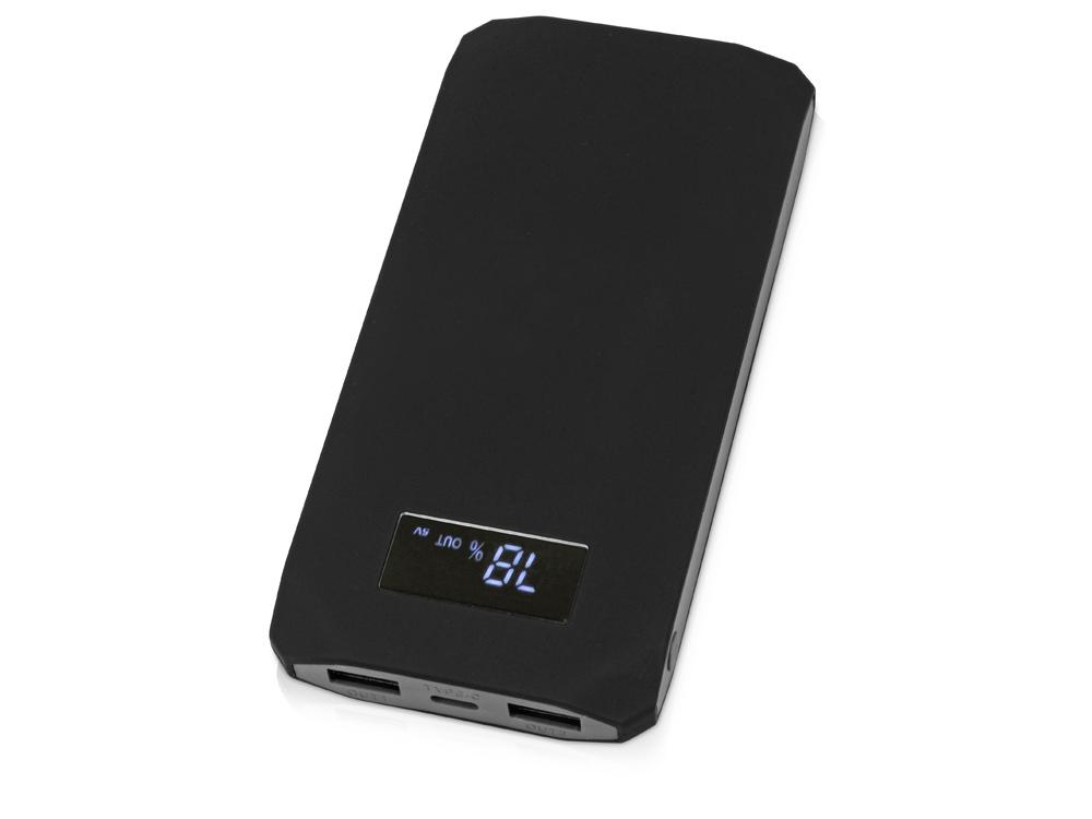 Портативное зарядное устройство Quickr с функцией быстрой зарядки, 10000 mAh, черный