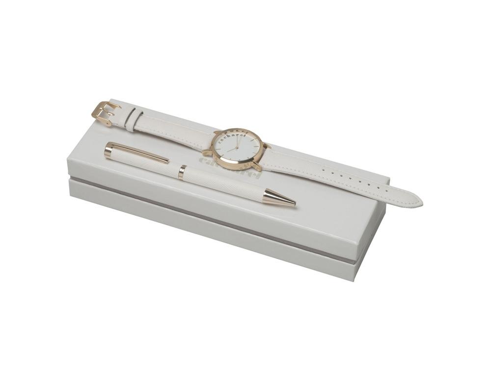Подарочный набор Bagatelle: часы наручные, ручка шариковая. Cacharel