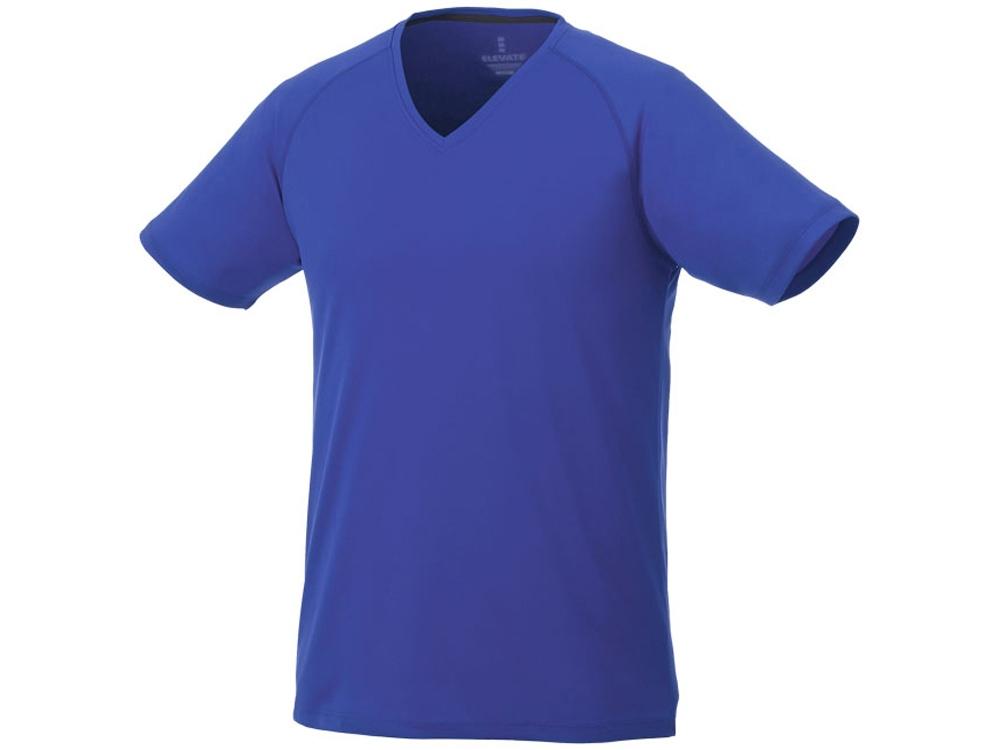 Модная мужская футболка Amery с коротким рукавом и V-образным вырезом, синий