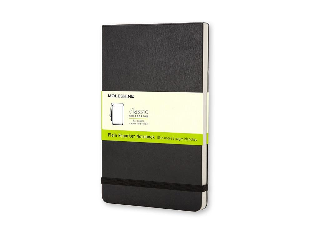 Записная книжка Moleskine Reporter (нелинованная), Pocket (9х14см), черный