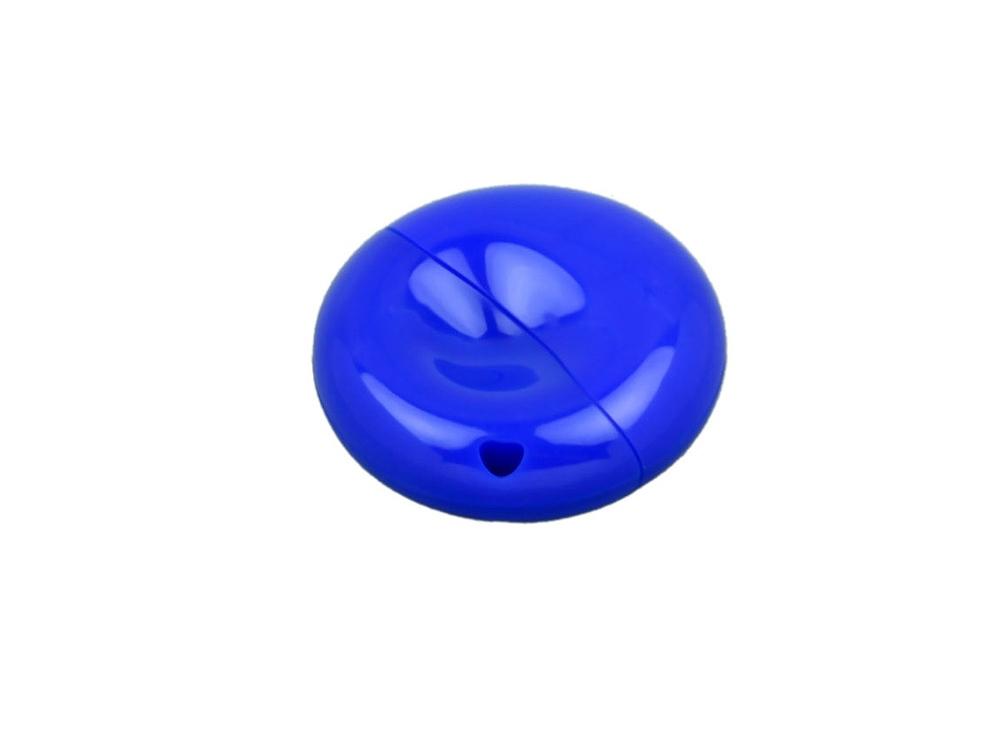 Флешка промо круглой формы, 64 Гб, синий