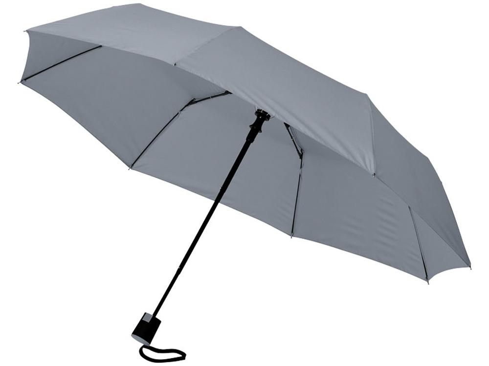Зонт Wali полуавтомат 21, серый