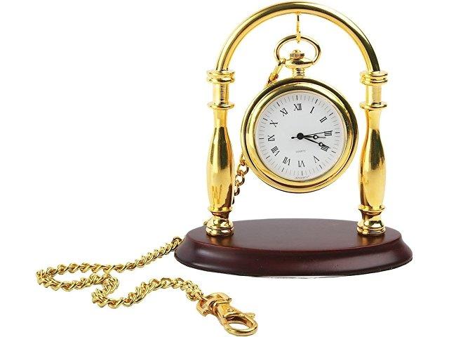 Набор «Фрегат»: портмоне, часы карманные на подставке, нож для б