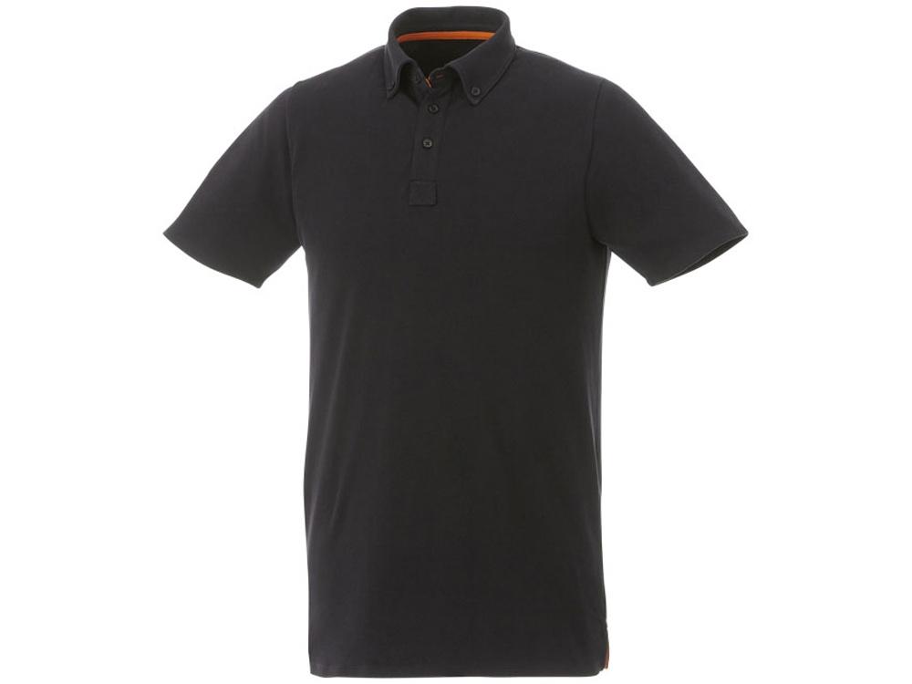 Мужская футболка поло Atkinson с коротким рукавом и пуговицами, черный