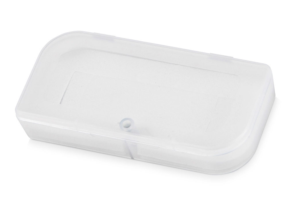 Подарочная коробка для флеш-карт Бокс в шубере, белый прозрачный