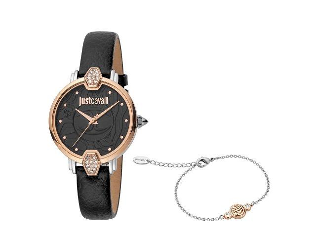 Подарочный набор: часы наручные женские, браслет (арт. 60023)