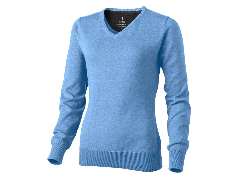 Пуловер Spruce женский с V-образным вырезом, светло-синий