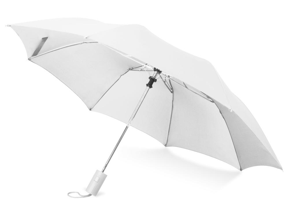 Зонт складной Tulsa, полуавтоматический, 2 сложения, с чехлом, белый (Р)