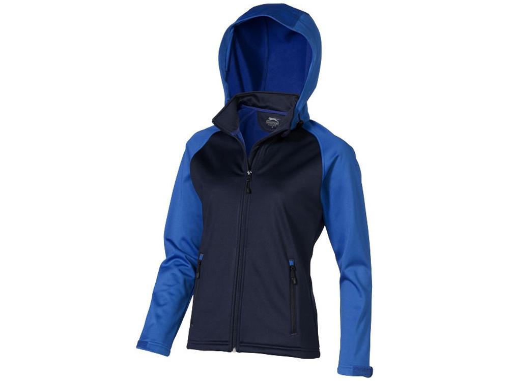 Куртка софтшел Сhallenger женская, темно-синий/небесно-голубой