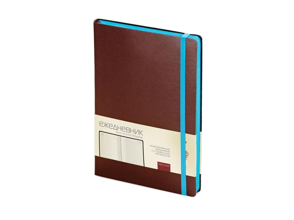 Ежедневник А5 недатированный Megapolis Soft, коричневый