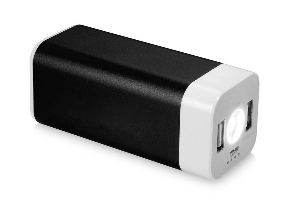 Портативное зарядное устройство Mega Volt, черный/белый