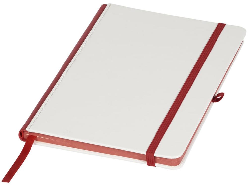 Блокнот А5 Solid, белый/красный