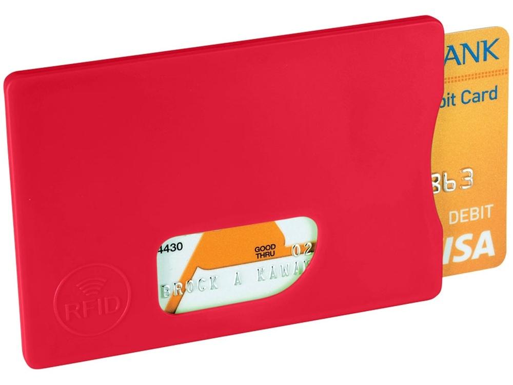Защитный RFID чехол для кредитной карты, красный