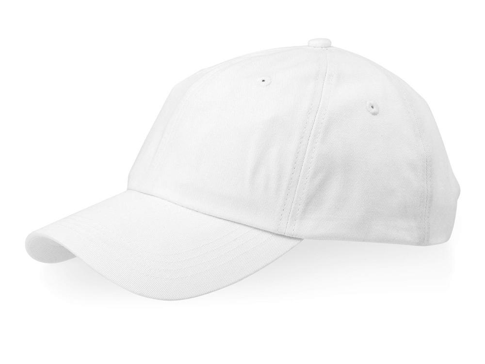 Бейсболка Apex 6-ти панельная, белый