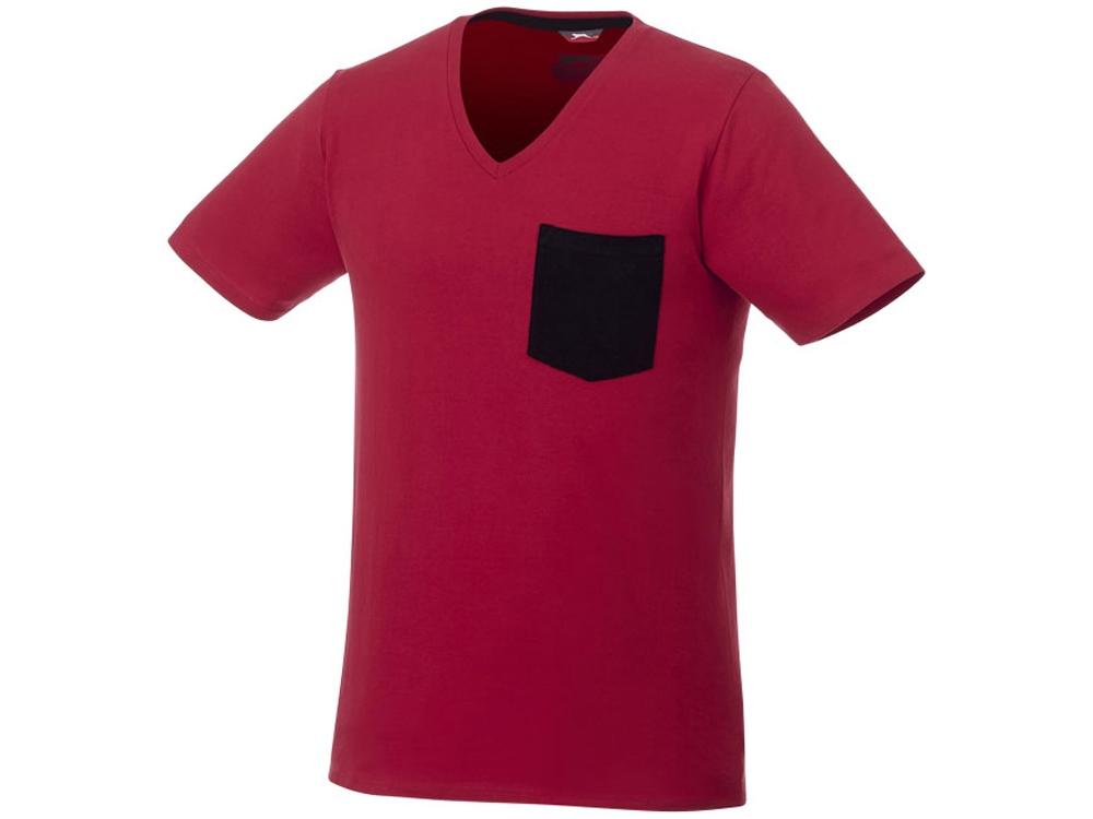 Мужская футболка Gully с коротким рукавом и кармашком, темно-красный/темно-синий