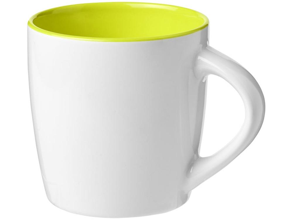 Керамическая чашка Aztec, белый/зеленый лайм