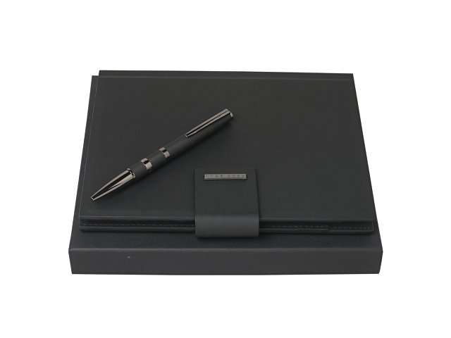 Подарочный набор: блокнот А5 с пауэрбэнком, ручка шариковая
