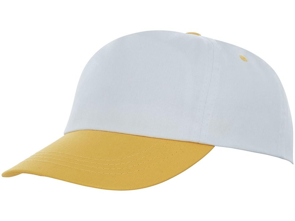 Пятипанельная двухцветная кепка Icarus, белый/желтый