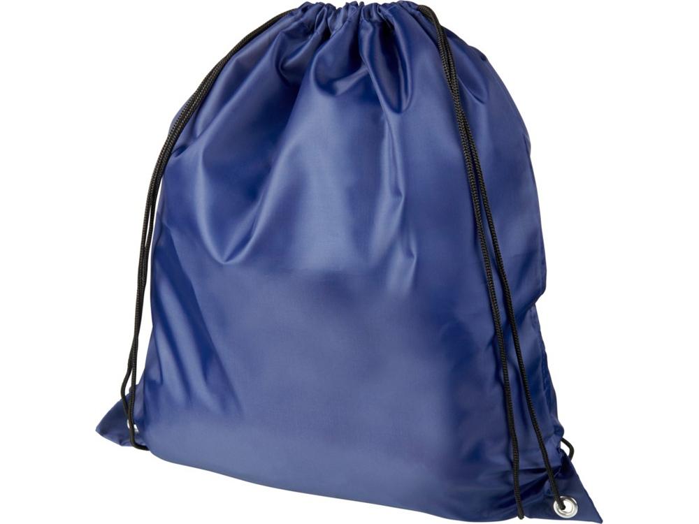Рюкзак со шнурком Oriole из переработанного ПЭТ, темно-синий