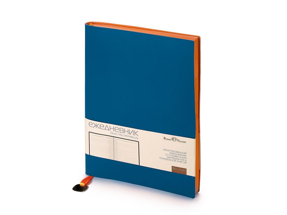 Ежедневник А5 недатированный Mercury, синий