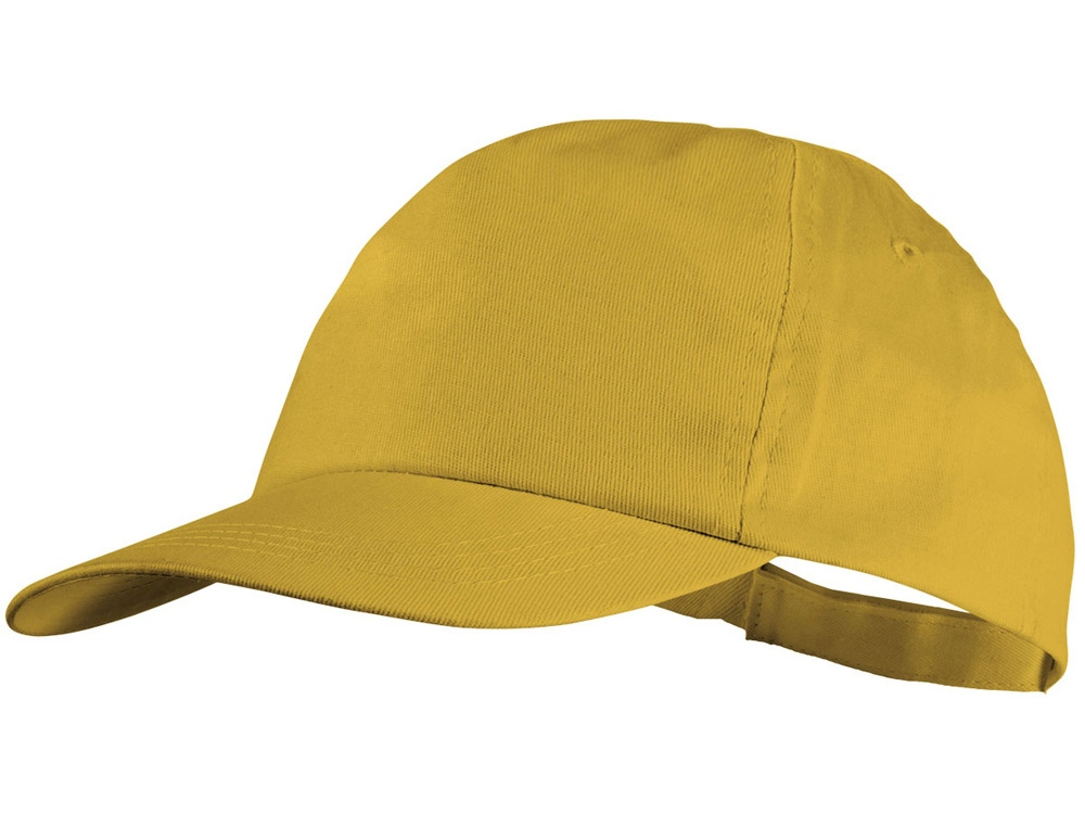 Бейсболка Basic, 5-ти панельная, желтый