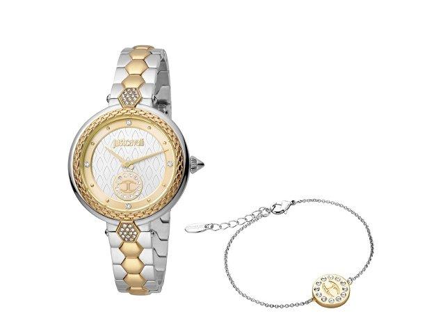 Подарочный набор: часы наручные женские, браслет (арт. 60005)