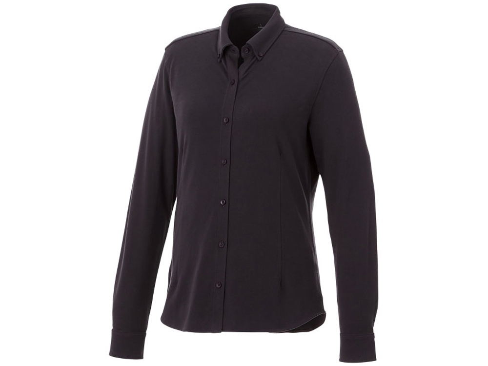 Женская рубашка Bigelow из пике с длинным рукавом, серый графитовый