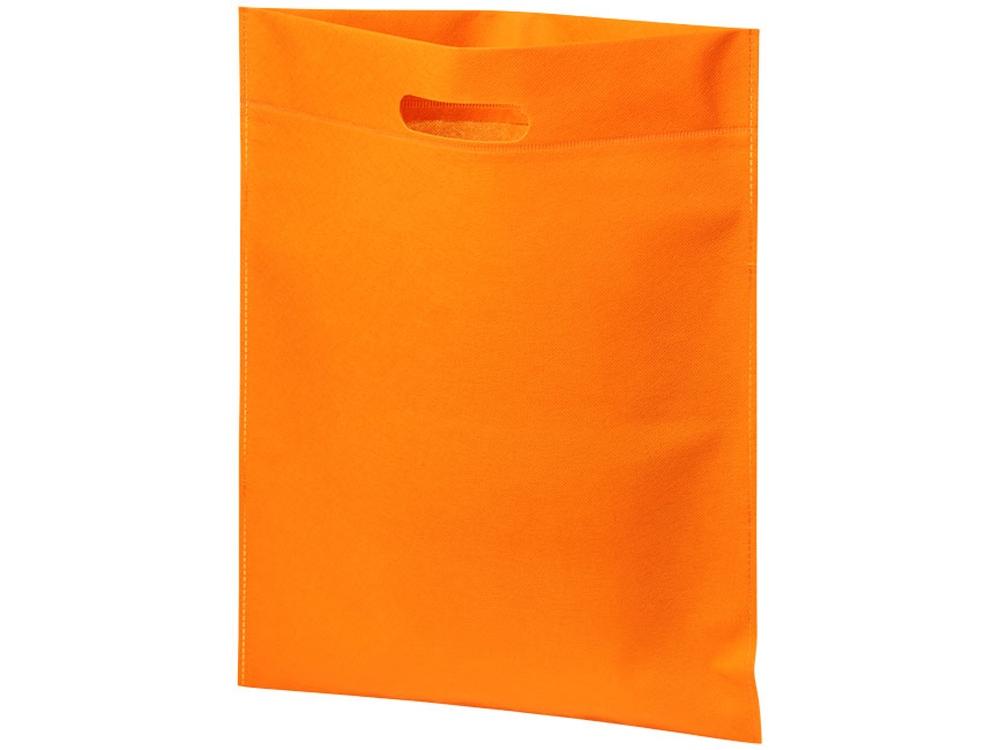 Большая просторная нетканая сумка-тоут для конференций