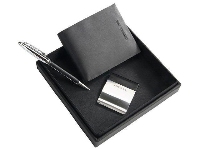 Подарочный набор: портмоне, зажим для денег, ручка шариковая (арт. 56188)