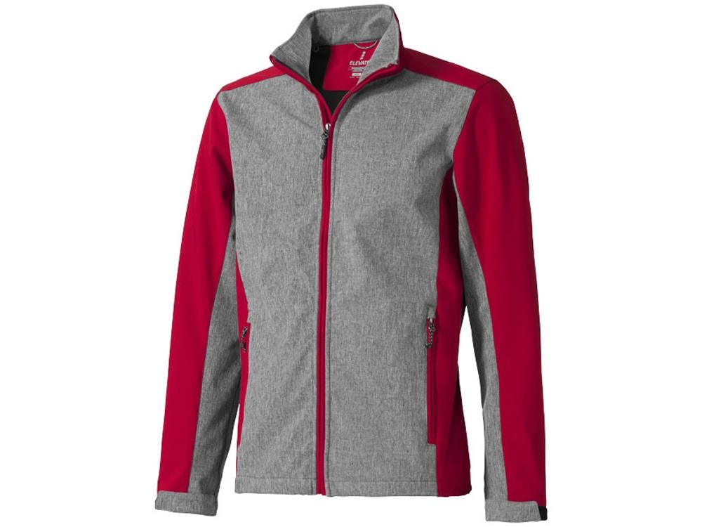 Куртка софтшел Vesper мужская, красный/темно-серый